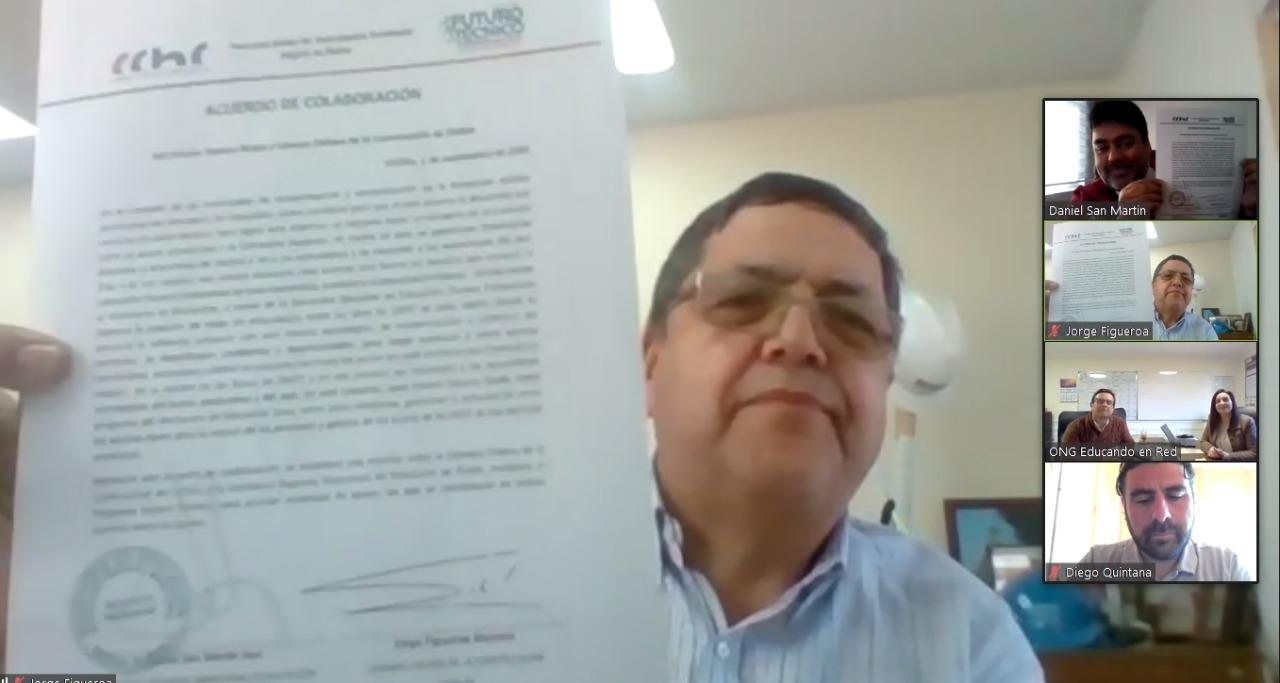 Red Futuro Técnico Ñuble y CChC Chillán firman acuerdo de colaboración